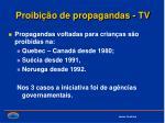 proibi o de propagandas tv