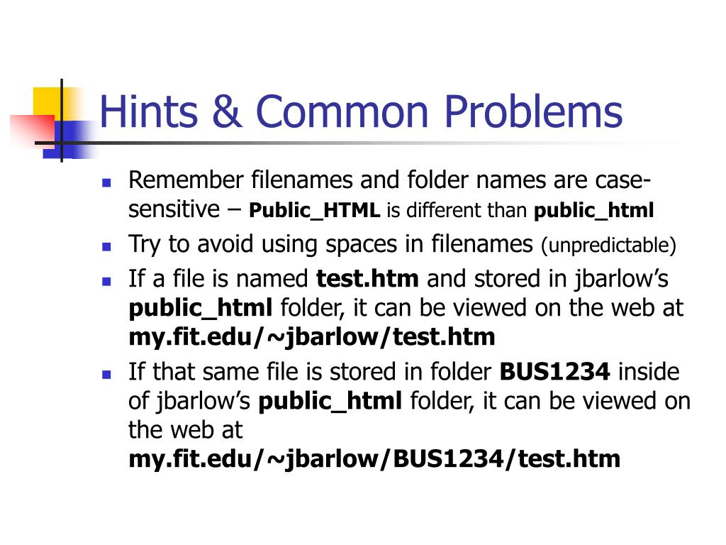 Hints & Common Problems