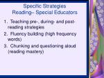 specific strategies reading special educators