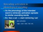spreading activation in phonological encoding