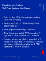 phase i capacity analysis gulf coast regional blood center