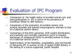 evaluation of ipc program