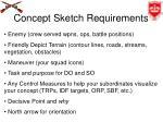 concept sketch requirements