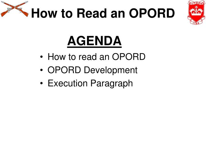 how to read an opord n.