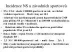 incidence ns u z vodn ch sportovc