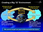 creating a big q environment