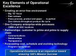 key elements of operational excellence