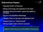 subcontract impact