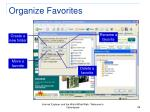organize favorites