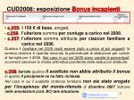 cud2008 esposizione bonus incapienti