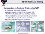 se 101 web based training