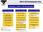 ssc c se revitalization plan