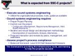 what is expected from ssc c projects