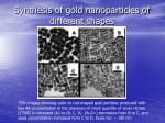 synthesis of gold nanoparticles of different shapes21