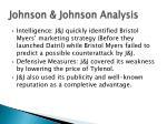 johnson johnson analysis