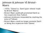 johnson johnson vs bristol myers