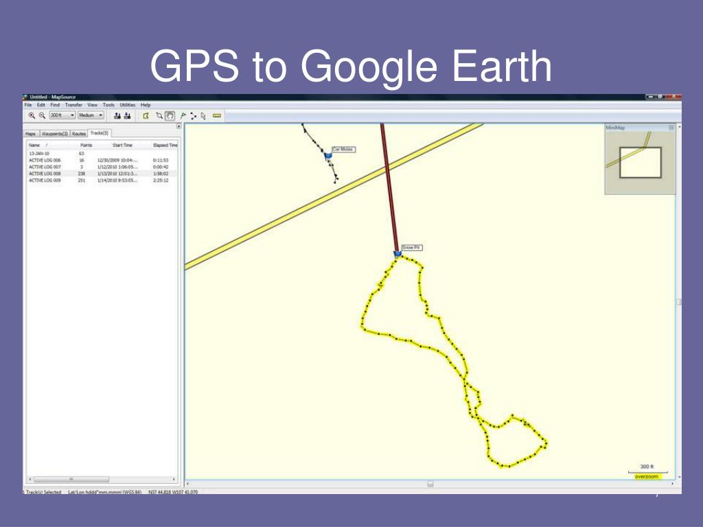 GPS to Google Earth