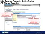 prior approval request details section pd change example35