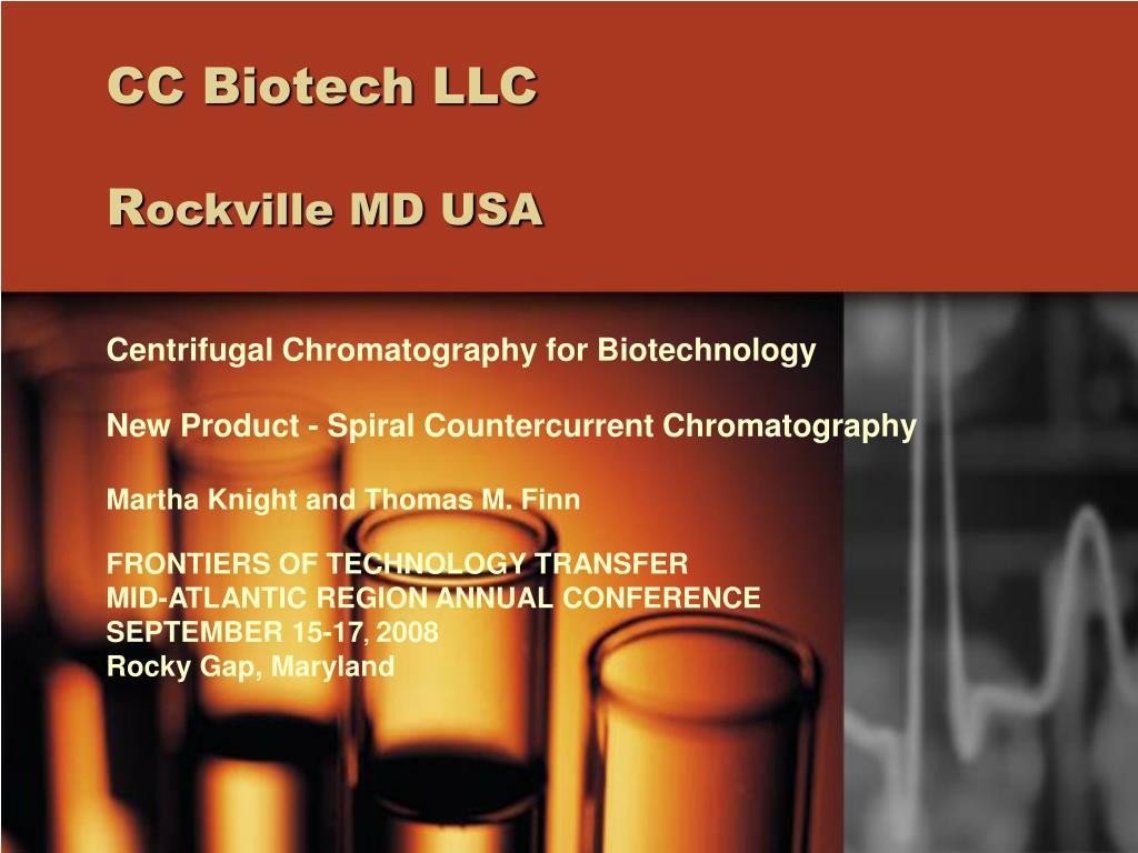 cc biotech llc r ockville md usa l.
