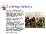 lovek neandert lsky