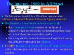 the internet 1969 by arpanet