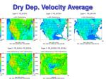 dry dep velocity average