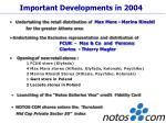 important developments in 2004
