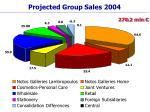 projected group sales 2004