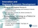 innovation and regional economic development