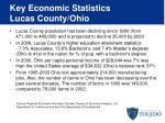 key economic statistics lucas county ohio