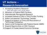 ut actions research innovation