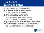 ut s actions entrepreneurship