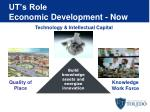 ut s role economic development now