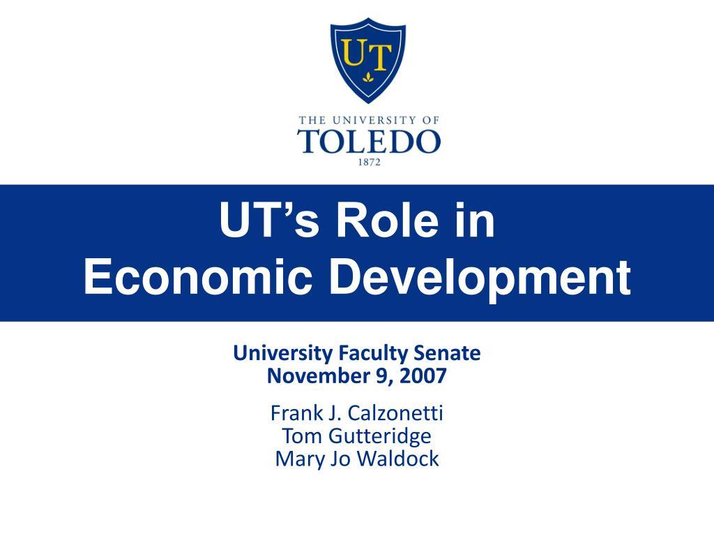 ut s role in economic development l.