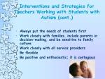 interventions and strategies for teachers working with students with autism cont28
