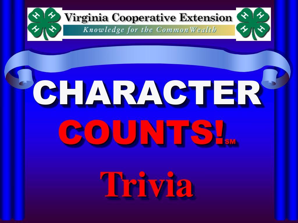 character counts sm trivia l.