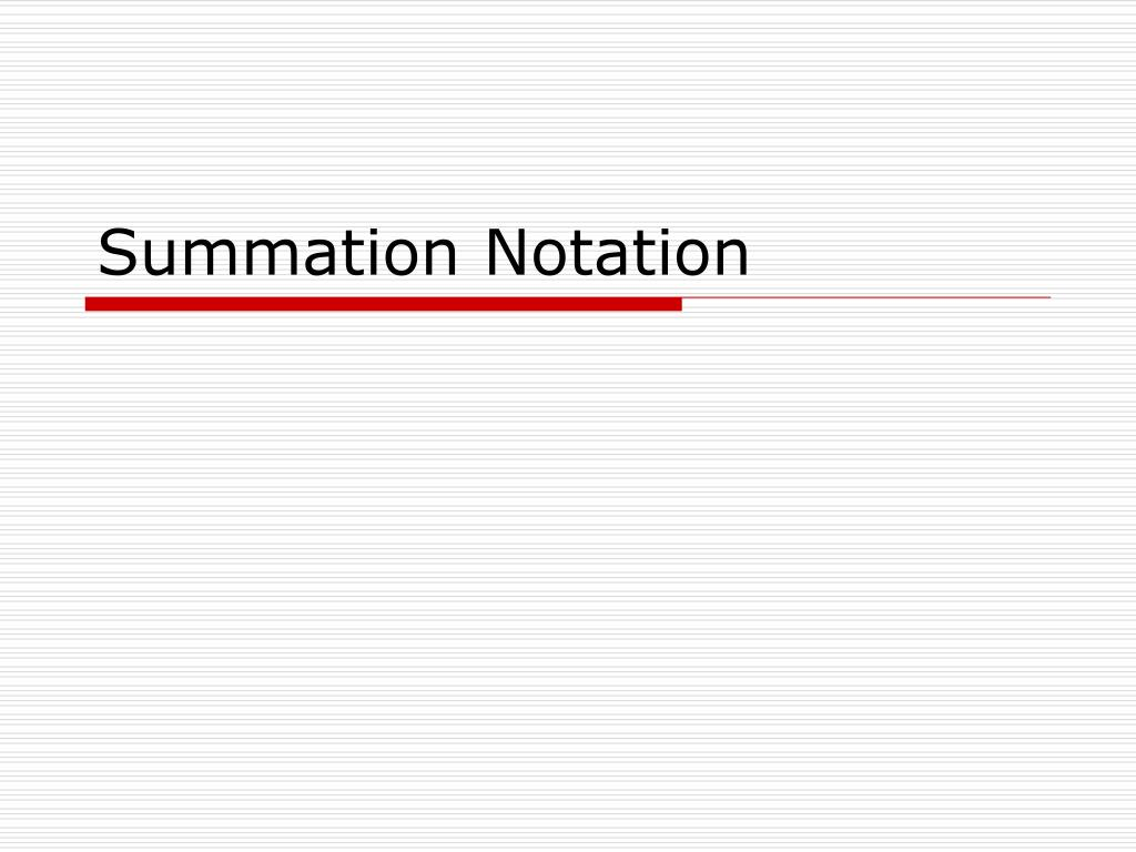 summation notation l.