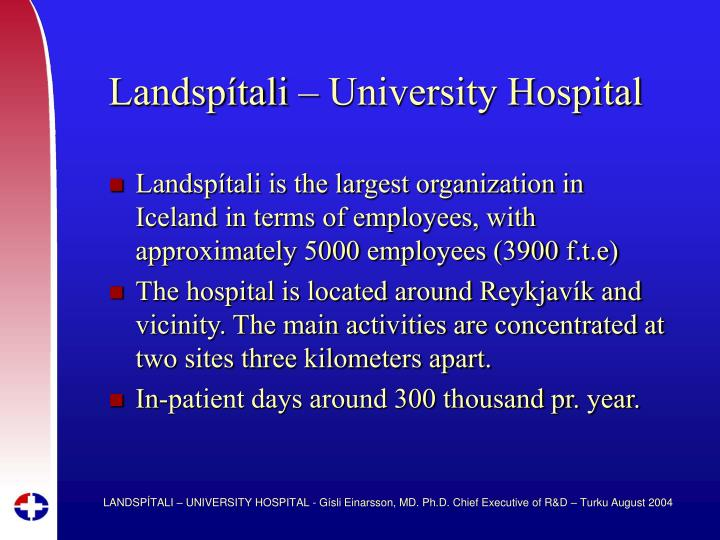 Landsp tali university hospital