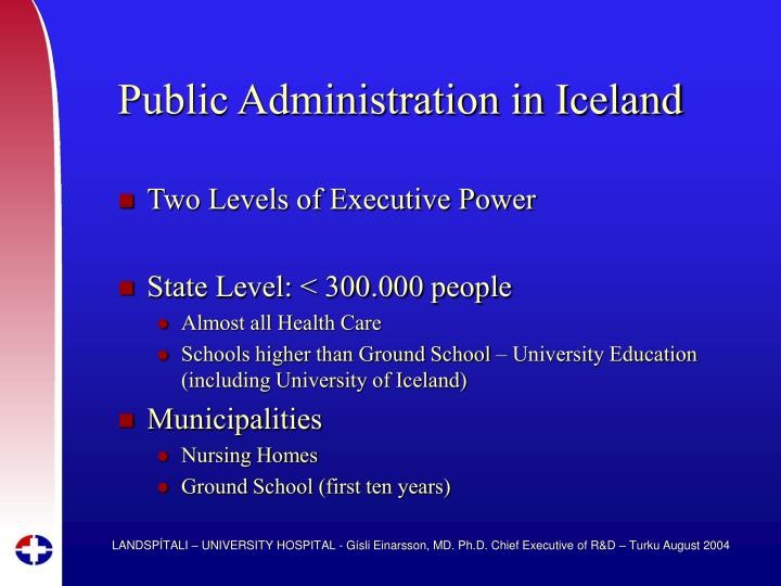 Public administration in iceland