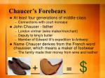 chaucer s forebears