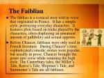 the faibliau