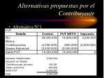 alternativas propuestas por el contribuyente46