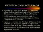 depreciacion acelerada