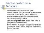 fracaso pol tico de la dictadura