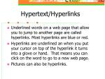 hypertext hyperlinks