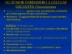 1v tumor verdadero a celulas gigantes osteoclastoma