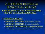 a neoplasias de c lulas plasm ticas mieloma