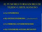 ii tumores formadores de tejido cartilaginoso