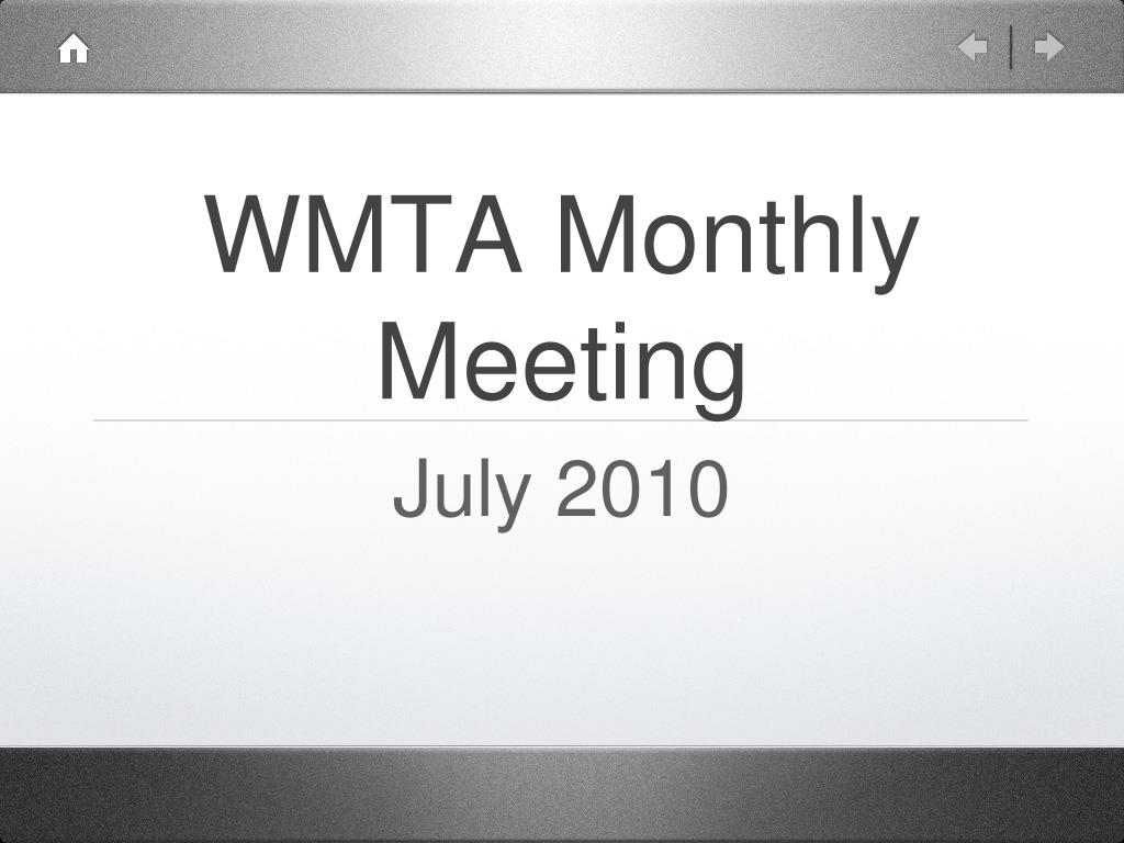 wmta monthly meeting l.