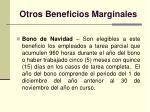 otros beneficios marginales34